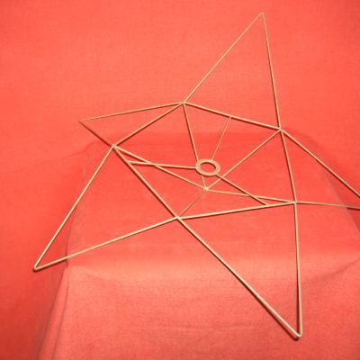 Carcasse abat-jour origami en forme Etoile