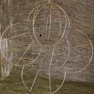 Carcasse abat-jour Boule et arcs de cercles
