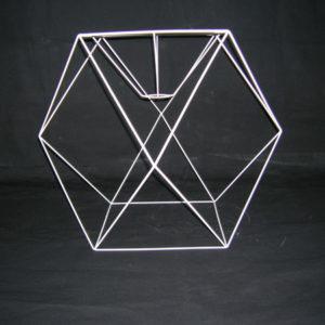 Carcasse abat-jour Cube à facettes