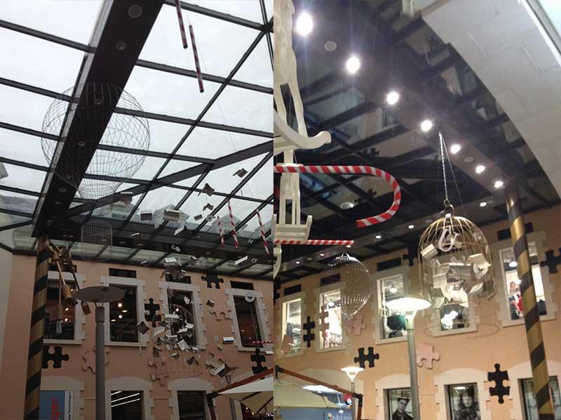 Réalisation d'une montgolfière en carcasse pour Pade Design