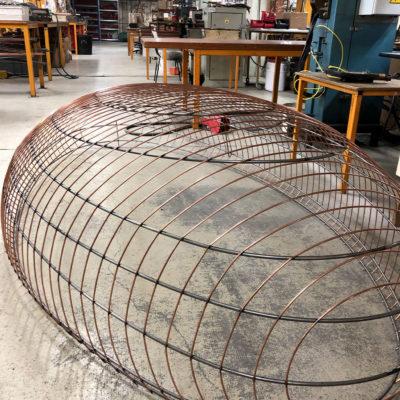 Un ovale de 270 cm