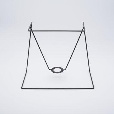 abat-jour ecran rectangle conique coins vifs
